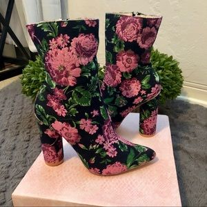 Cape Robbin floral ankle boots